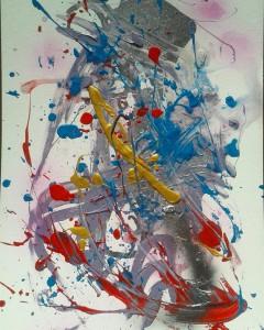 """Картина И.Гуляевой """"Лед и пламя, танцующие джаз"""""""